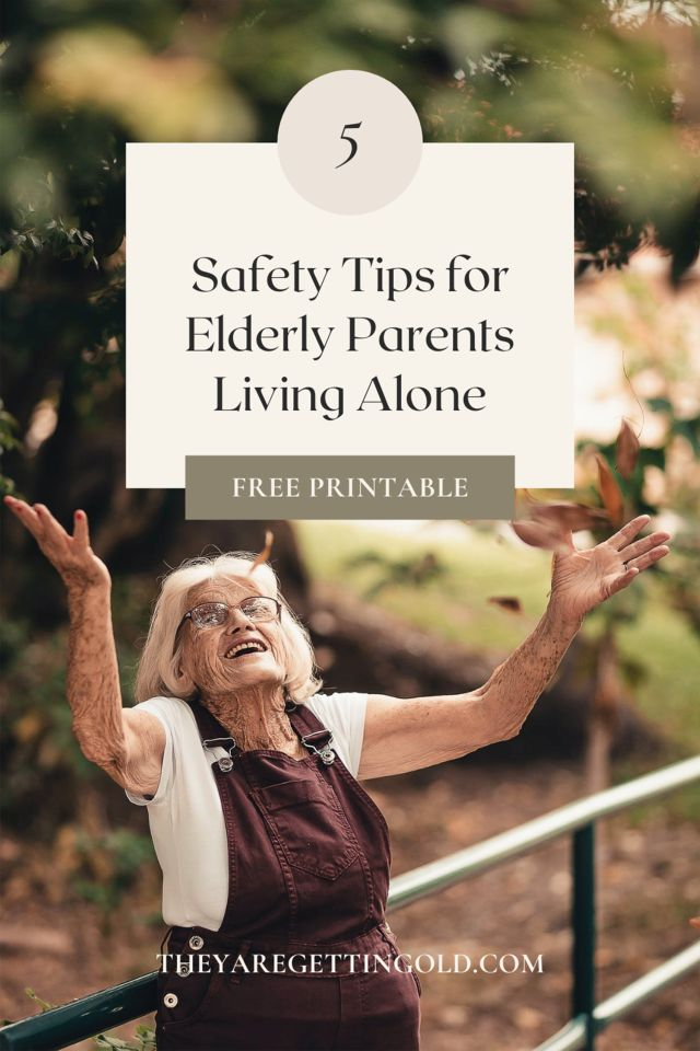 how to help seniors live safely alone